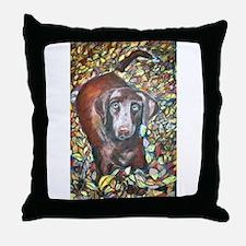 """""""Emmit"""" a Labrador Retriever Throw Pillow"""