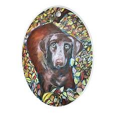 """""""Emmit"""" a Labrador Retriever Keepsake (Oval)"""