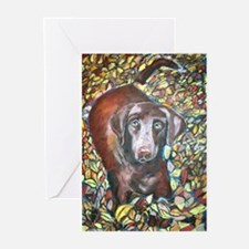 """Emmit"" a Labrador Retriever Greeting Cards (Packa"