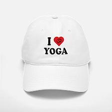 I Love Yoga Baseball Baseball Cap