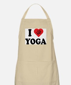 I Love Yoga BBQ Apron