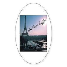 Eiffel Tower Oval Decal