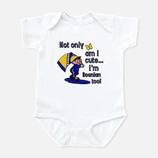 Not only am I cute I'm Bosnian too! Infant Bodysui