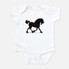 Friesian Black Horse Infant Bodysuit