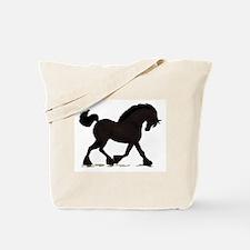 Friesian Black Horse Tote Bag