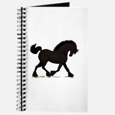 Friesian Black Horse Journal