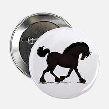 """Friesian Black Horse 2.25"""" Button"""