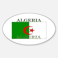 Algeria Algerian Flag Oval Decal
