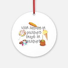 What Happens at Grandpop's... Ornament (Round)