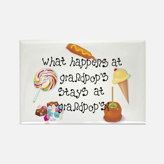 What Happens at Grandpop's... Rectangle Magnet