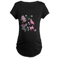 Cherry Blossoms with Pink But T-Shirt