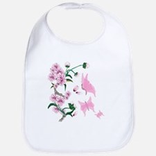 Cherry Blossoms with Pink But Bib