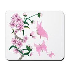 Cherry Blossoms with Pink But Mousepad