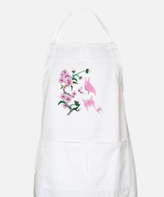 Cherry Blossoms with Pink But BBQ Apron