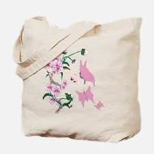 Cherry Blossoms with Pink But Tote Bag