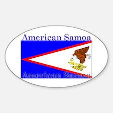 American Samoa Flag Oval Decal