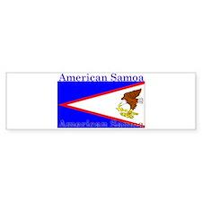 American Samoa Flag Bumper Bumper Sticker