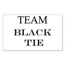 Team Black Tie Rectangle Decal