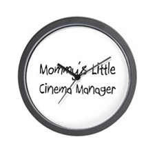 Mommy's Little Cinema Manager Wall Clock