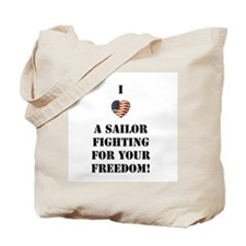 Love A Sailor Fighting Tote Bag