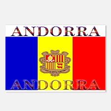 Andorra Andorran Flag Postcards (Package of 8)