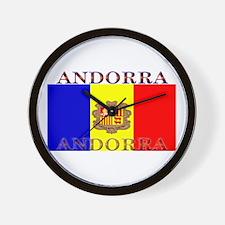 Andorra Andorran Flag Wall Clock