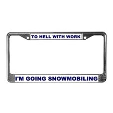 Funny Wrench License Plate Frame