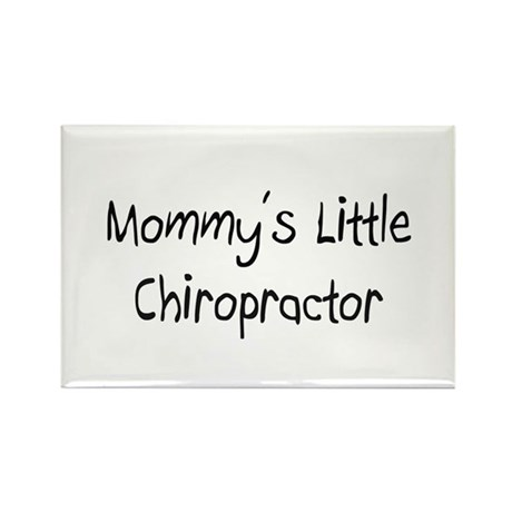 Mommy's Little Chiropractor Rectangle Magnet