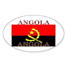 Angola Angolan Flag Oval Decal