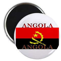 "Angola Angolan Flag 2.25"" Magnet (100 pack)"