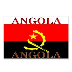 Angola Angolan Flag Postcards (Package of 8)