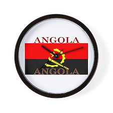 Angola Angolan Flag Wall Clock