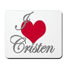 I love (heart) Cristel Mousepad