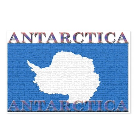 antarctica flag coloring page - antarctica flag postcards package of 8 by allflags