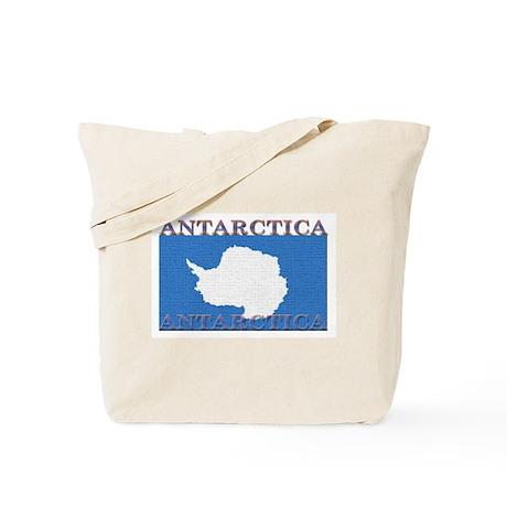 Antarctica Flag Tote Bag