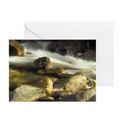Red Stream Greeting Cards (Pk of 10)