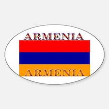Armenia Armenian Flag Oval Decal