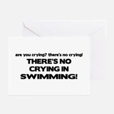 There's No Crying in Swimming Greeting Cards (Pk o