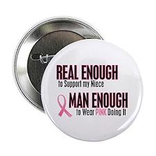 "Real Enough Man Enough 1 (Niece) 2.25"" Button"