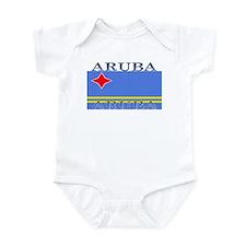 Aruba Aruban Flag Infant Creeper