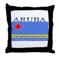 Aruba Aruban Flag Throw Pillow