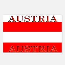 Austria Austrian Flag Postcards (Package of 8)