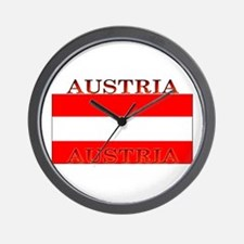 Austria Austrian Flag Wall Clock