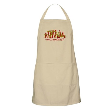 Dragon Ninja Accordionist BBQ Apron
