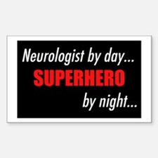 Superhero Neurologist Rectangle Decal