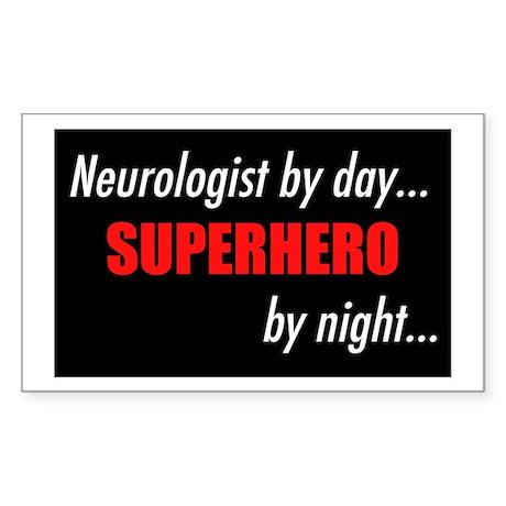 Superhero Neurologist Rectangle Sticker