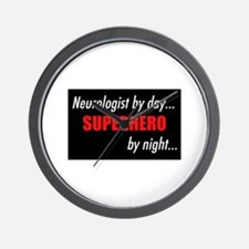 Superhero Neurologist Wall Clock