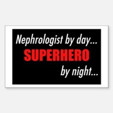 Superhero Nephrologist Rectangle Decal