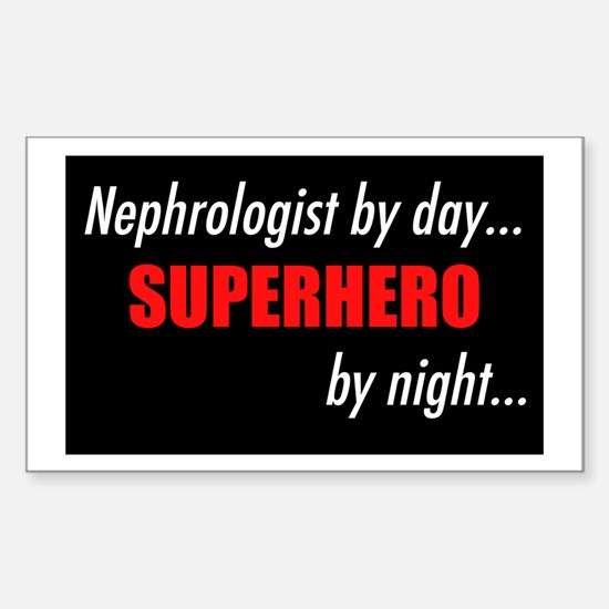 Superhero Nephrologist Rectangle Decal