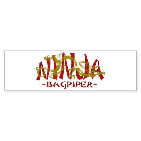 Dragon Ninja Bagpiper Bumper Sticker